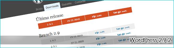 WordPress 2.9.2