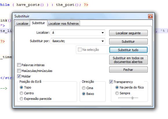 Traduzir Temas WordPress -  Substituir Caracteres Especiais