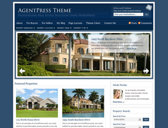 AgentPress Child Theme for Genesis Framework