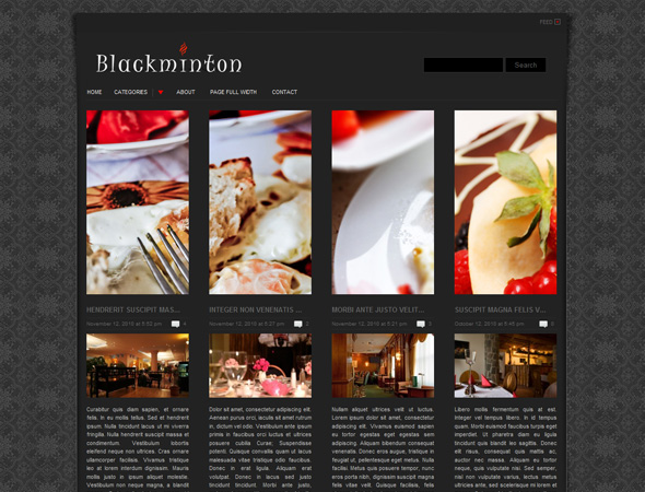 Blackminton 960 Grid - WordPress Theme