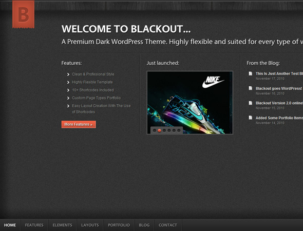 Blackout WordPress Theme