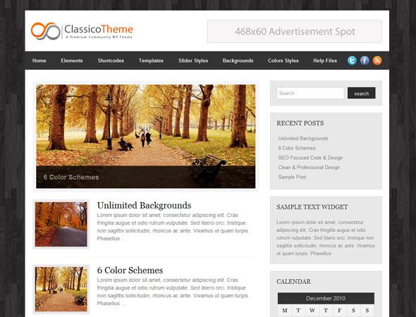 Classico WordPress Theme