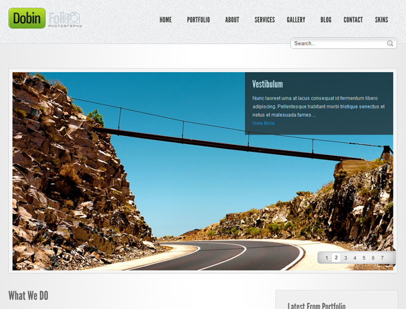 Dobin Folio - Photography & Corporate WP CMS