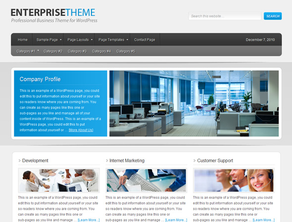 Enterprise Child Theme for Genesis Framework