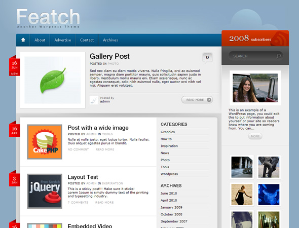 Featch WordPress Theme