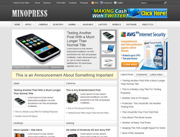 MinoPress WordPress Theme