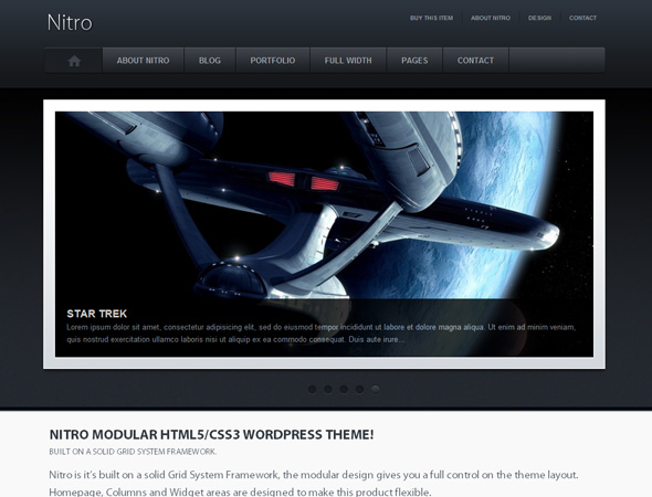 Nitro Modular HTML5 WordPress Theme