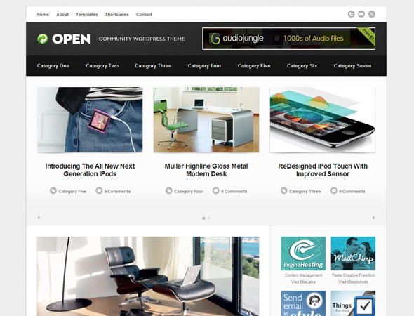 Open - Community WordPress Theme