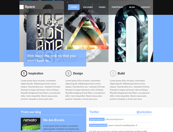Space Creative Personal & Blog WordPress Theme