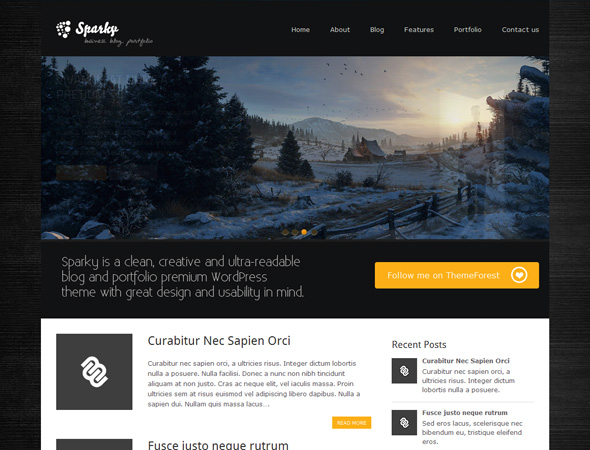 Sparky - Creative Blog & Portfolio WordPress Theme