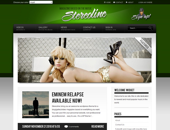 Stereoline Magazine - WordPress 30 in 1