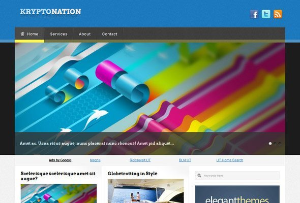 Kryptonation WordPress Theme