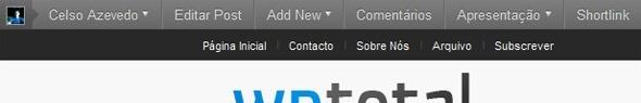 Barra do WordPress 3.1