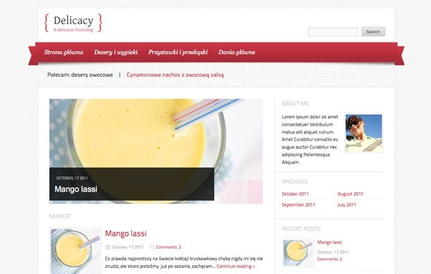 Delicacy WordPress Theme