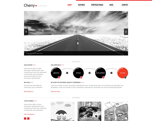 Cherry Portfolio WordPress Theme