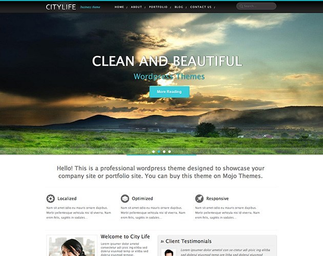 City Life WordPress Theme