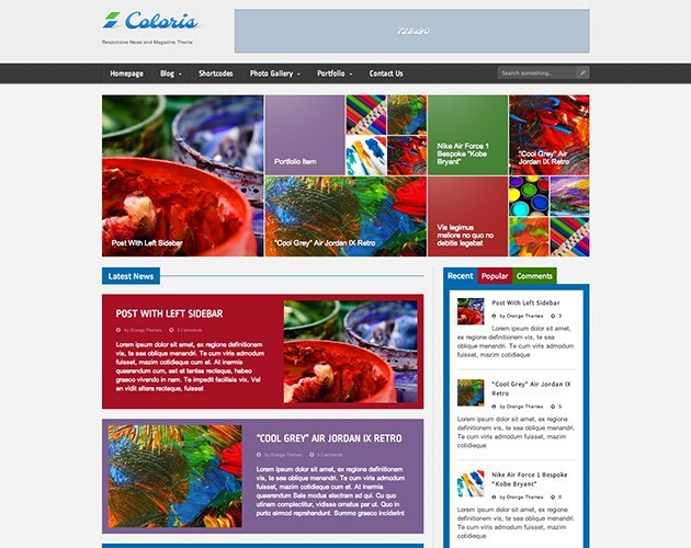 Coloris - Responsive News and Magazine Theme