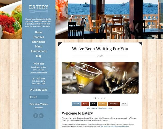 Eatery - Restaurant Theme