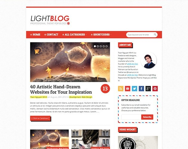 LightBlog - Reponsive Blogging WordPress Theme
