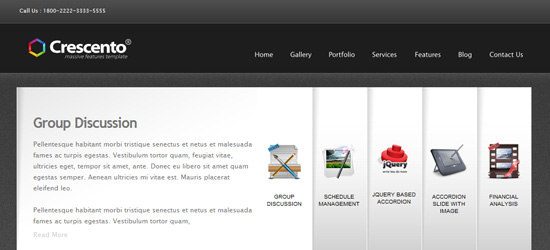 Crescento WordPress Theme