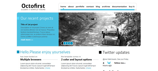 Octofirst Business Portfolio WordPress 4 em 1
